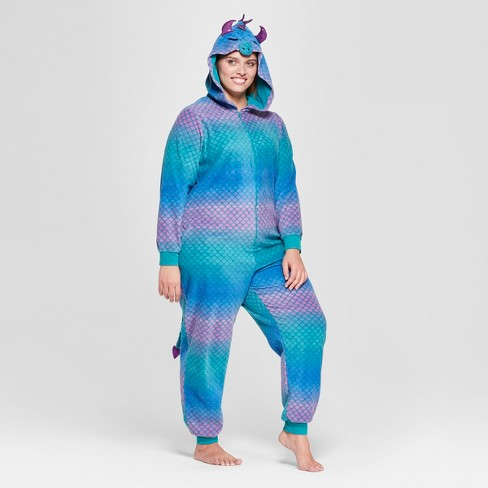 Women S Plus Size Halloween Dragon Union Suit Target