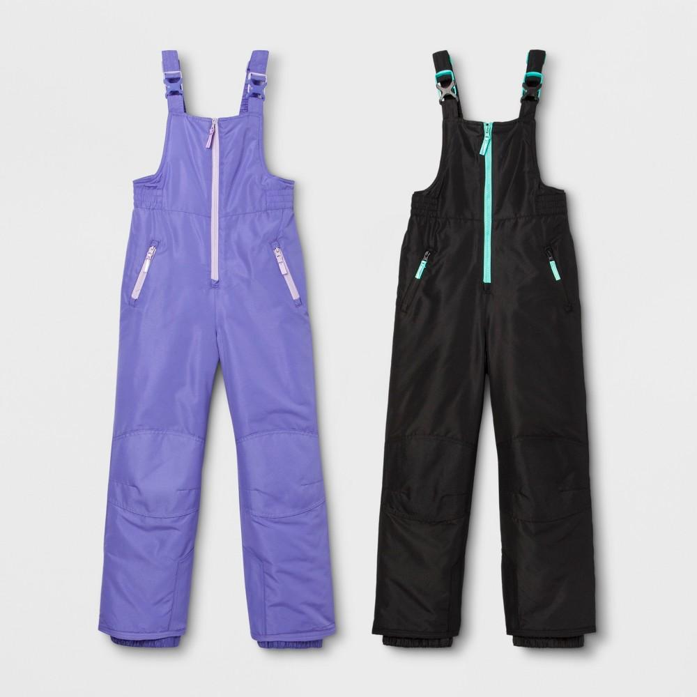 Girls' 2pk Snow Bib - C9 Champion Purple/Black XL