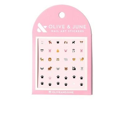 Olive & June Nail Art Kit - Furry Friends - 36ct