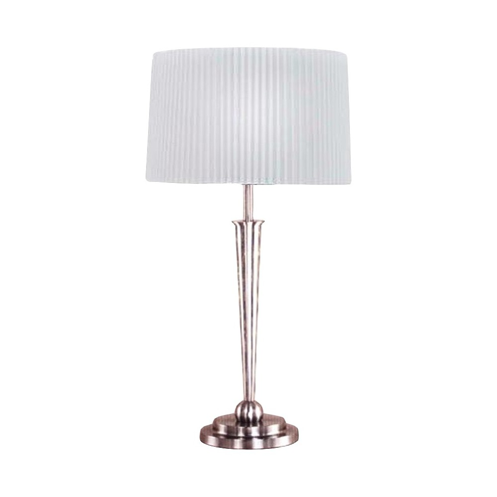 Metal Table Lamp - Brushed Steel (Silver) (30)