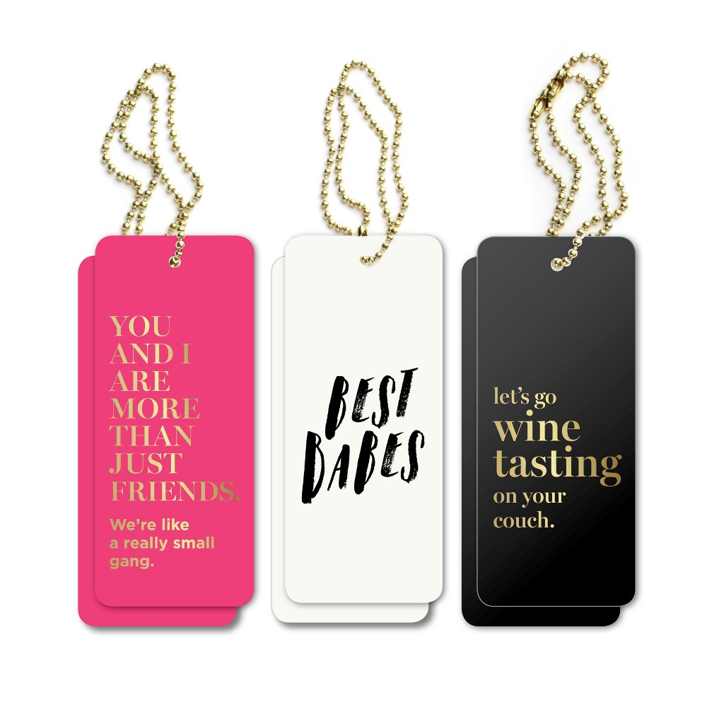 6ct Inklings Paperie Quotes Gift Tags, Multi-Colored