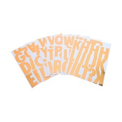 97ct Alphabet Stickers Large Gold Block - Spritz™