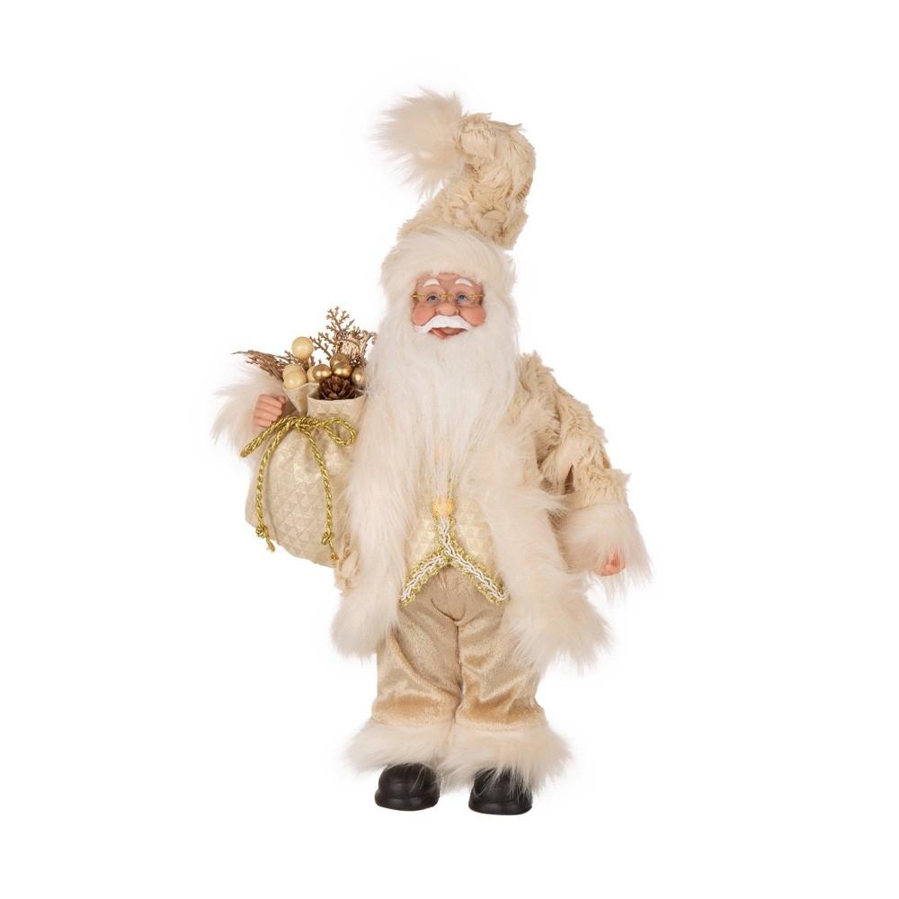 "Image of ""15"""" Standing Santa Decorative Figurine - Glitzhome"""