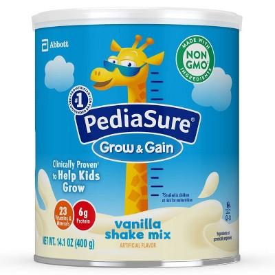 PediaSure Grow & Gain Non-GMO Shake Mix Powder Vanilla - 14.1oz