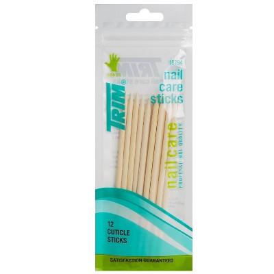 Trim Wood Nail Care Cuticle Sticks - 12pc