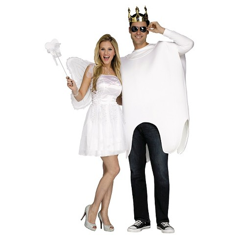 Adult Tooth Fairy and Tooth Costumes White - One Size Fits Most (Includes 2 Costumes) - image 1 of 1