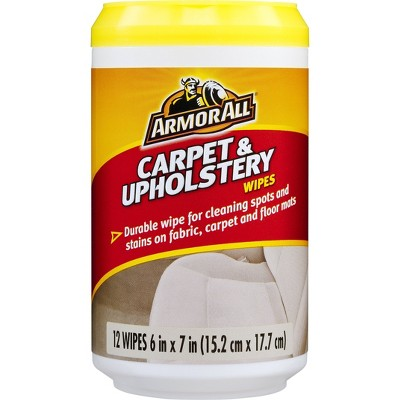 Armor All 12ct Carpet and Upholstery Wipes Automotive Interior Cleaner
