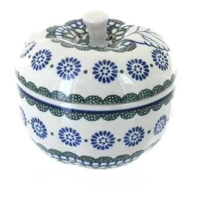 Blue Rose Polish Pottery Maia Apple Baker