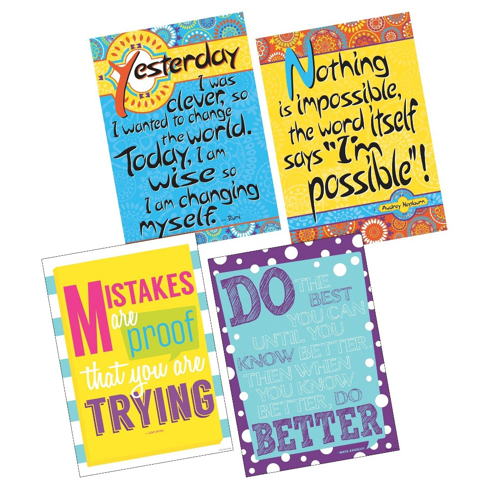 Image of Barker Creek Classroom Poster Set 4ct - I'm Possible!