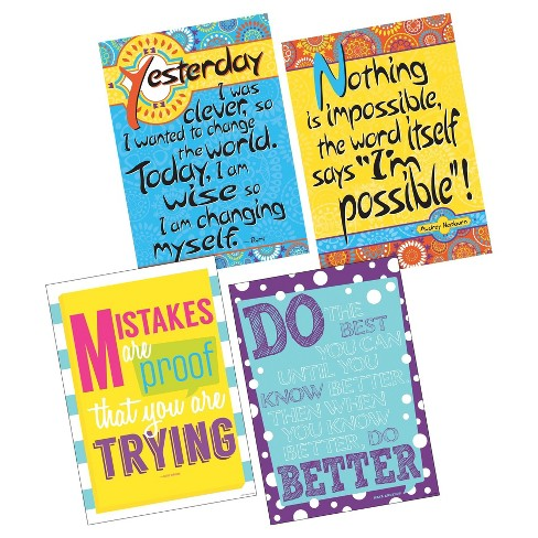 Barker Creek Classroom Poster Set 4ct - I'm Possible! - image 1 of 4