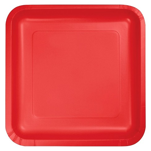 """Classic Red 7"""" Dessert Plates - 18ct - image 1 of 3"""