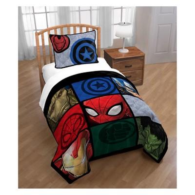 Marvel Avengers Full Bed Blanket Gray Target