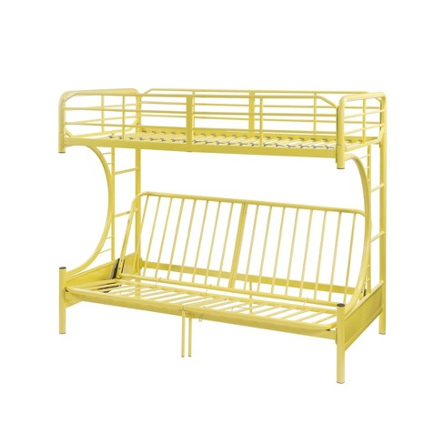 Twin Over Full Futon Eclipse Bunk Bed Yellow Acme