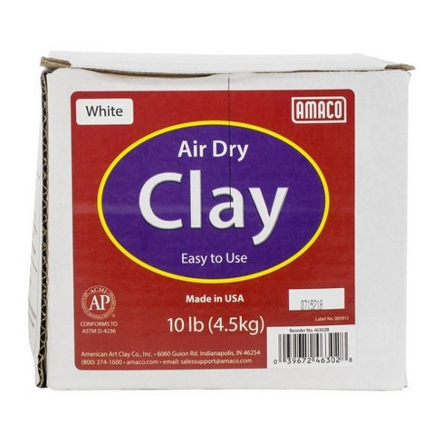 10lb Air-Dry Modeling Clay - White - image 1 of 1