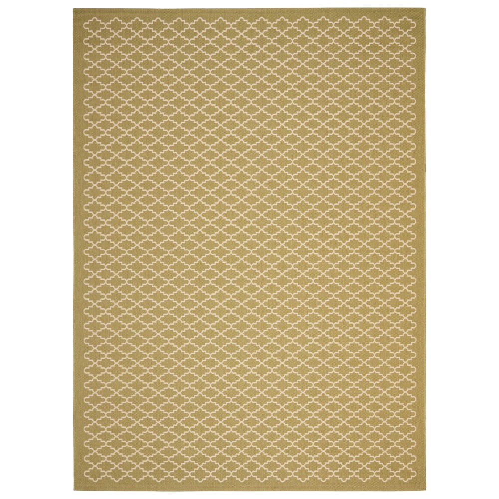 Durres Rectangle 8' X 11' Outer Patio Rug - Green / Beige - Safavieh, Green/Beige