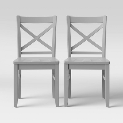 Set of 2 Carey Dining Chair Gray - Threshold™