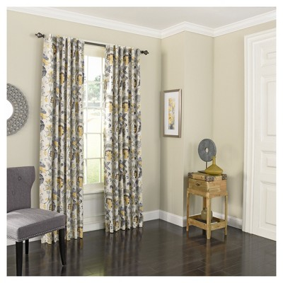 Nina Back Tab Blackout Curtain Panel - Eclipse