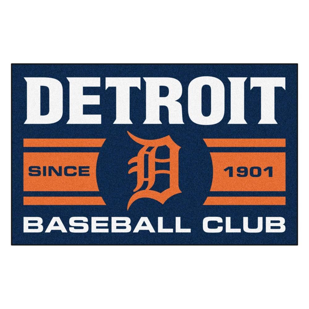 Mlb Detroit Tigers Baseball Club Starter Rug 19 X30