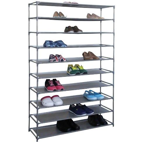 Home Basics 50 Pair Non-Woven Multi-Purpose Stackable Free-Standing Shoe Rack, Grey - image 1 of 4