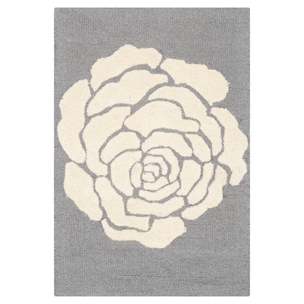 Safavieh Connor Accent Rug - Dark Grey / Ivory ( 2' X 3' ), Dark Gray