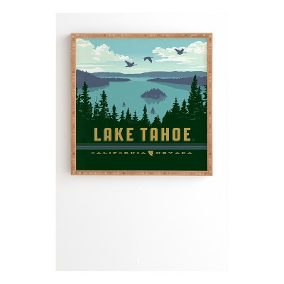 Anderson Design Group Lake Tahoe Framed Wall Art 20  x 20  - Deny Designs