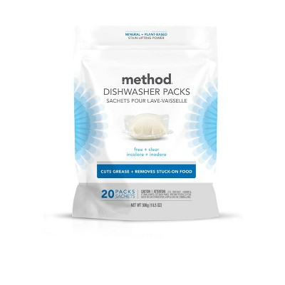 Method Dishwasher Detergent Power Packets - Free & Clear
