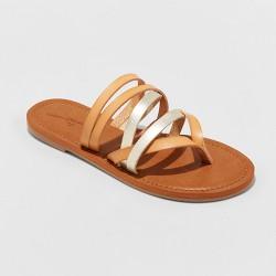Women's Maritza Multi Strap Toe Slide Sandals - Universal Thread™