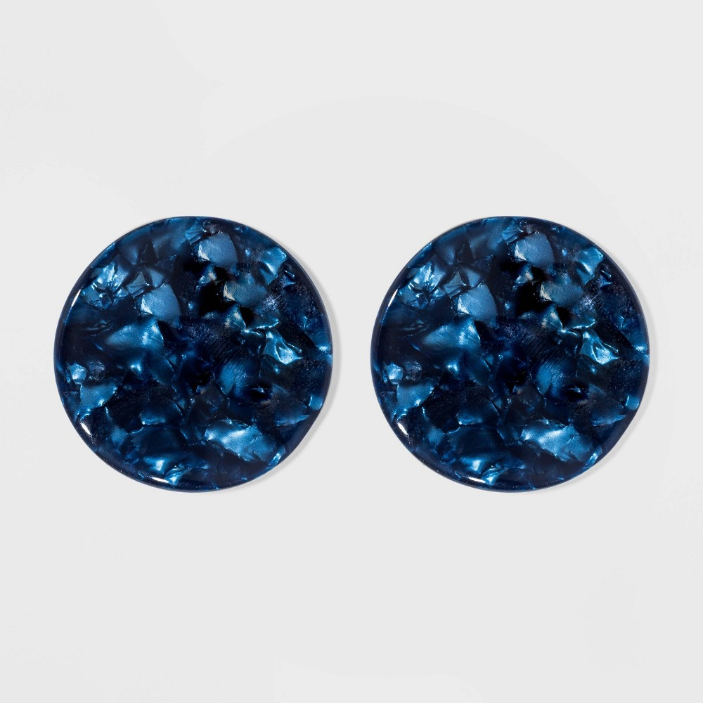 Disk Earrings - A New Day Navy