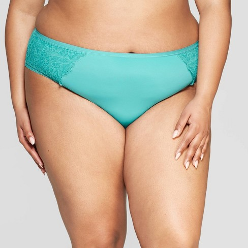 4c07a4601b2 Women's Plus Size Micro Cheeky With Lace - Auden™ Dapper Turquoise ...