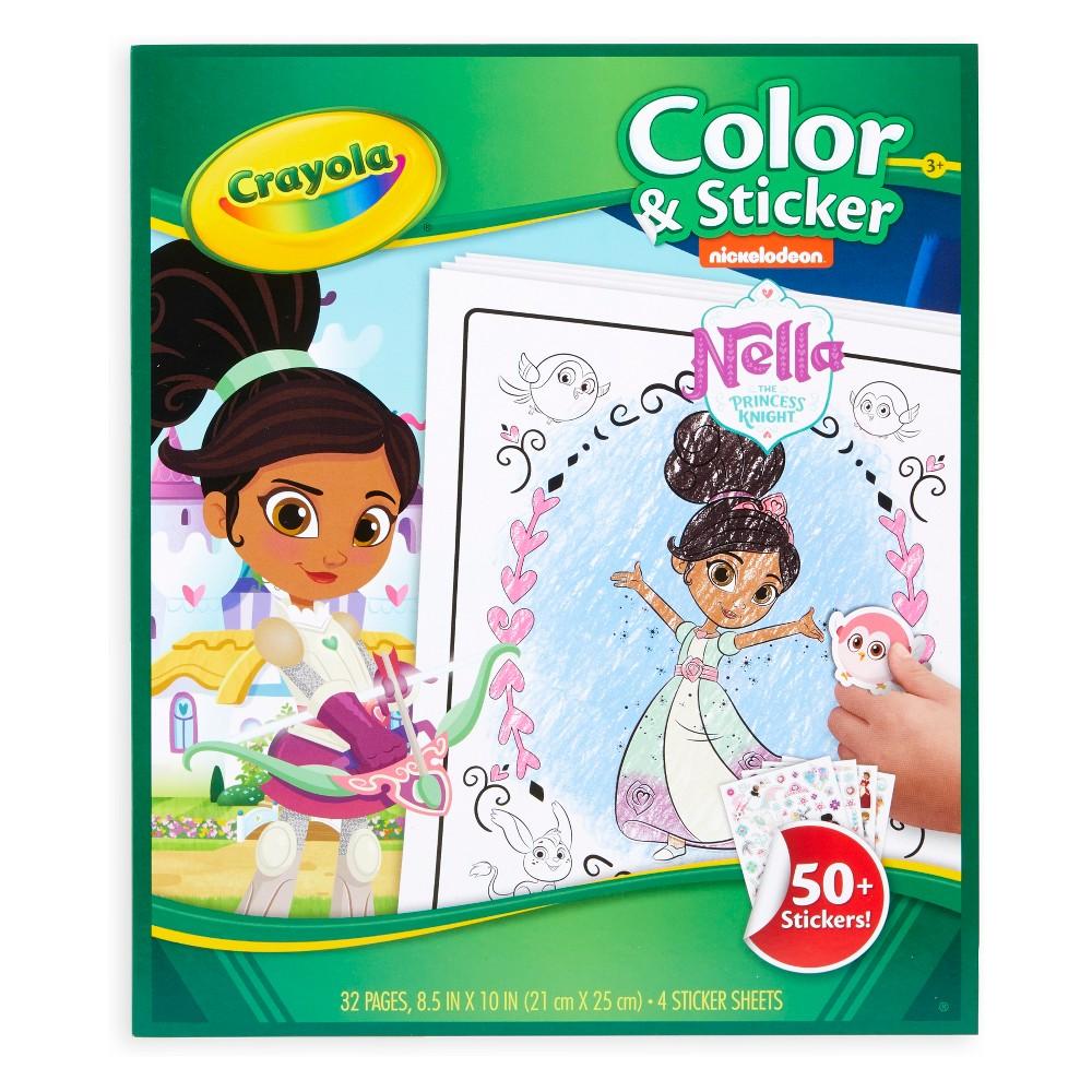 Nella the Princess Knight Color & Sticker Activity - Crayola, White