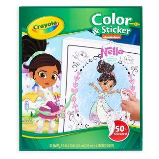 Nella the Princess Knight Color & Sticker Activity - Crayola