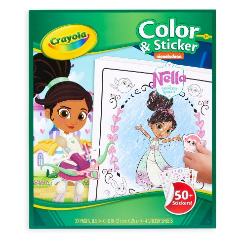 Nella the Princess Knight Color & Sticker Activity - Crayola - image 1 of 4