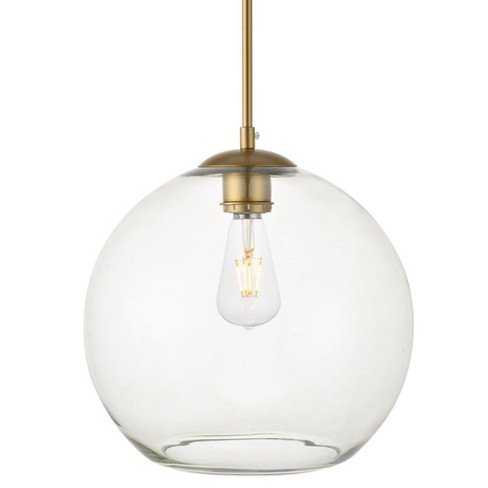 """Elegant Lighting LD2224 Baxter 12"""" Pendant with Clear Glass Shade - image 1 of 4"""