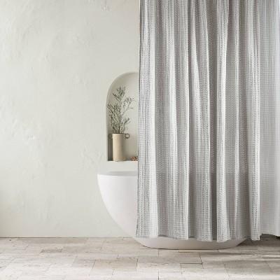 Waffle Shower Curtain Light Gray - Casaluna™