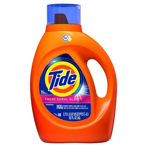 Tide Fresh Coral Blast HE Liquid Laundry Detergent - 92 fl oz - image 1 of 3