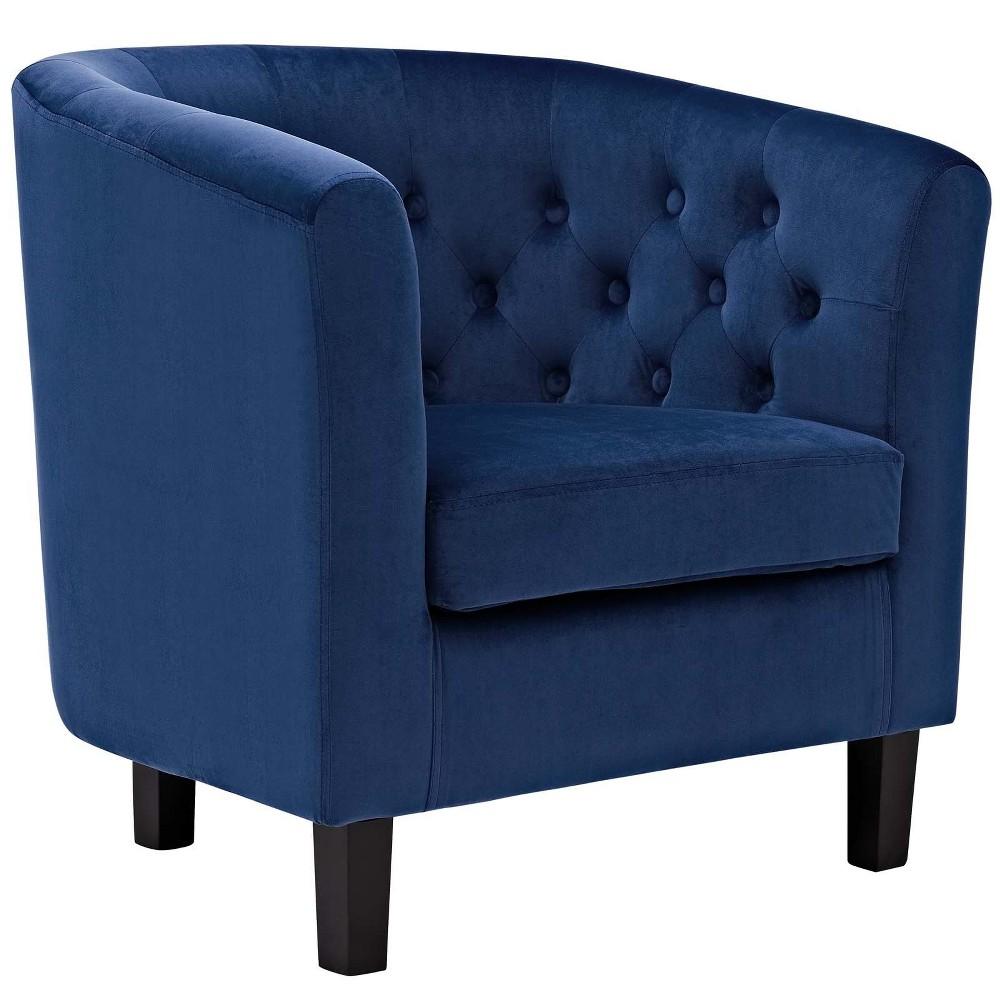Prospect Velvet Armchair Navy (Blue) - Modway