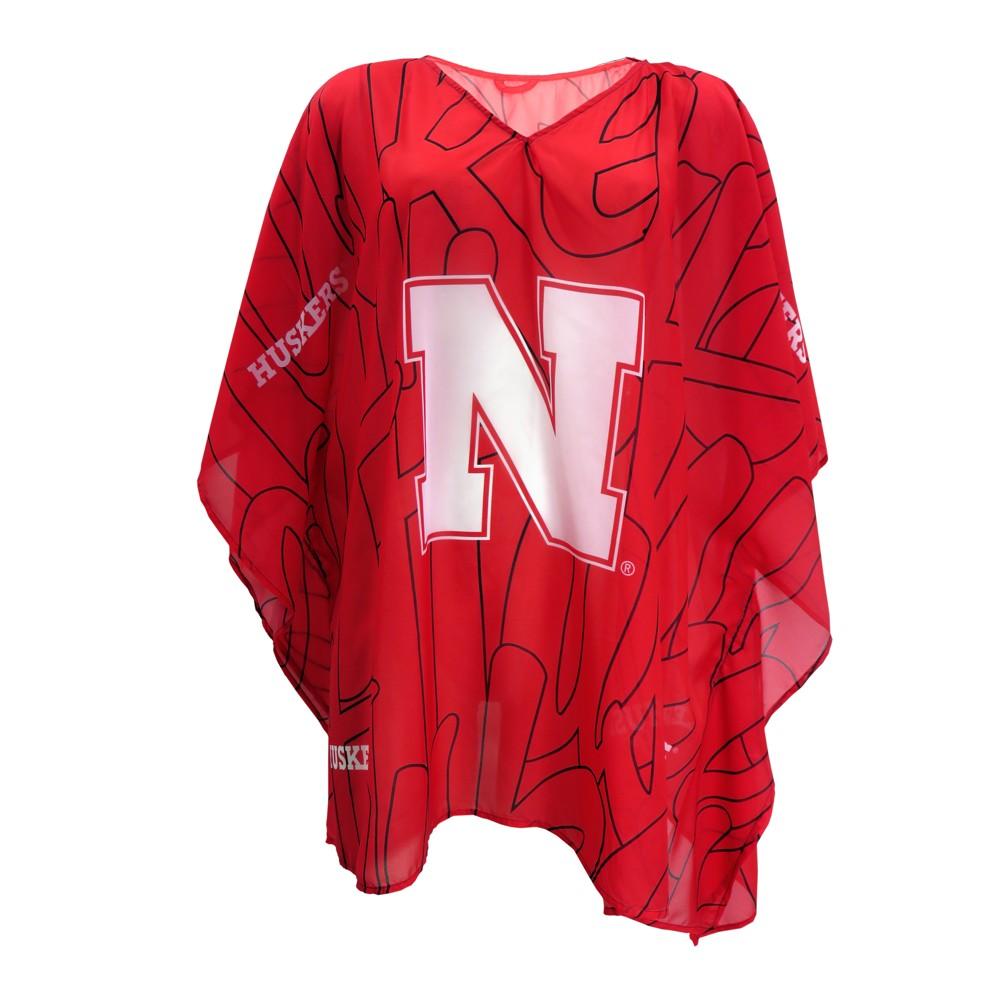 NCAA Nebraska Cornhuskers Little Earth Women's Elbow Length Caftan - One Size