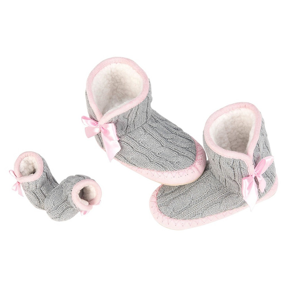 Our Generation Me & You Slippers - Cable Knit - Size M