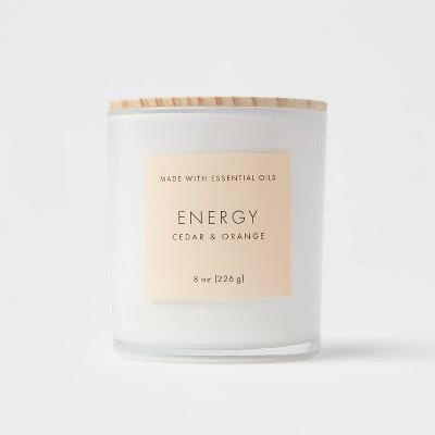 Wood Lidded Glass Wellness Energy Candle - Project 62™