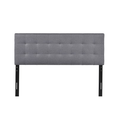 Queen Square Roberta Stitched Headboard Gray - Poly & Bark