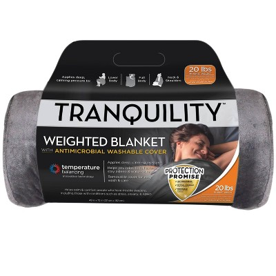 """48"""" x 72"""" 15lbs Temperature Balancing Weighted Blanket Gray - Tranquility"""