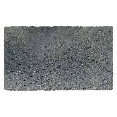 Textured Stripe Bath Rug (23 X38 )Gray Aqua - Project 62™ + Nate Berkus™