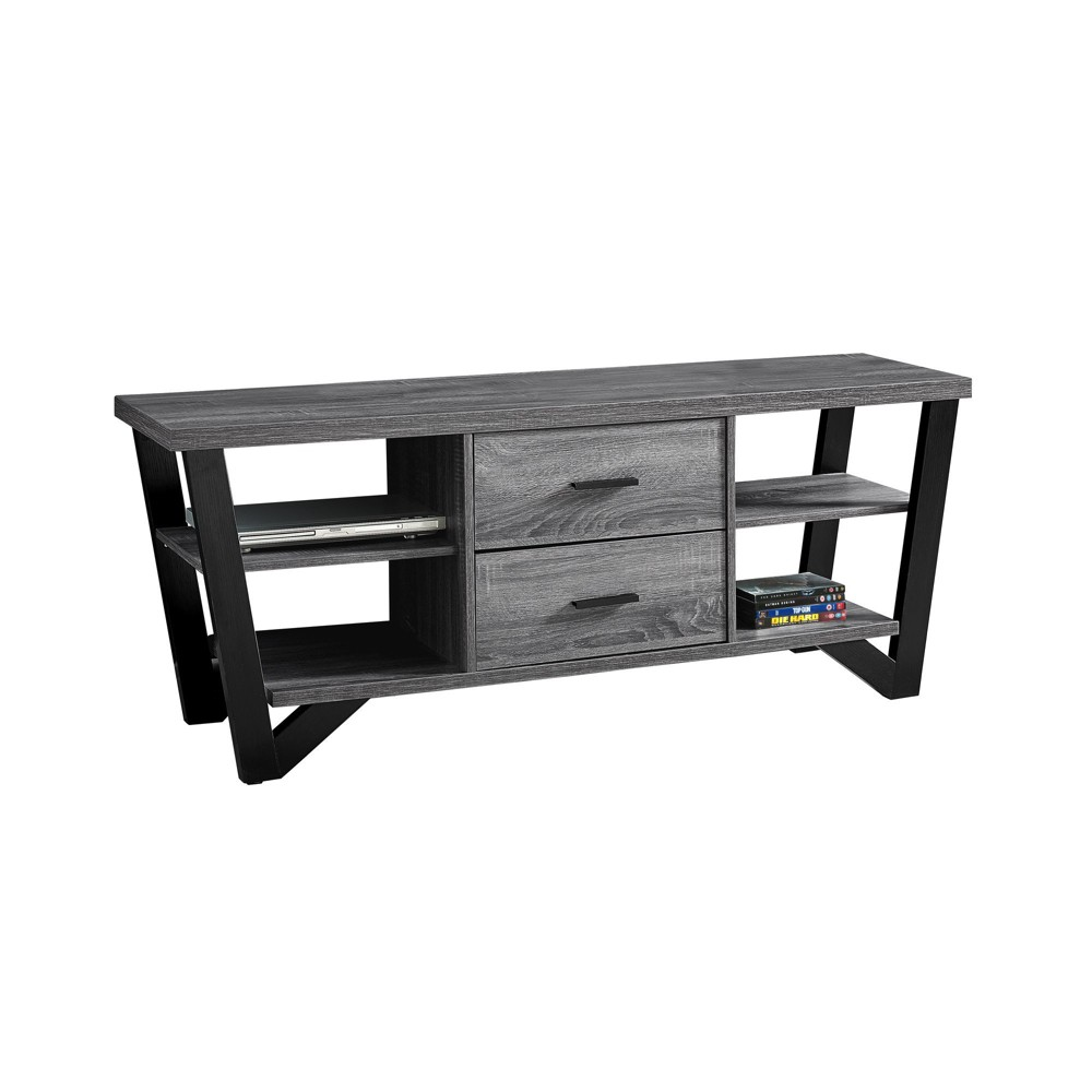 TV Stand with Drawers Black EveryRoom