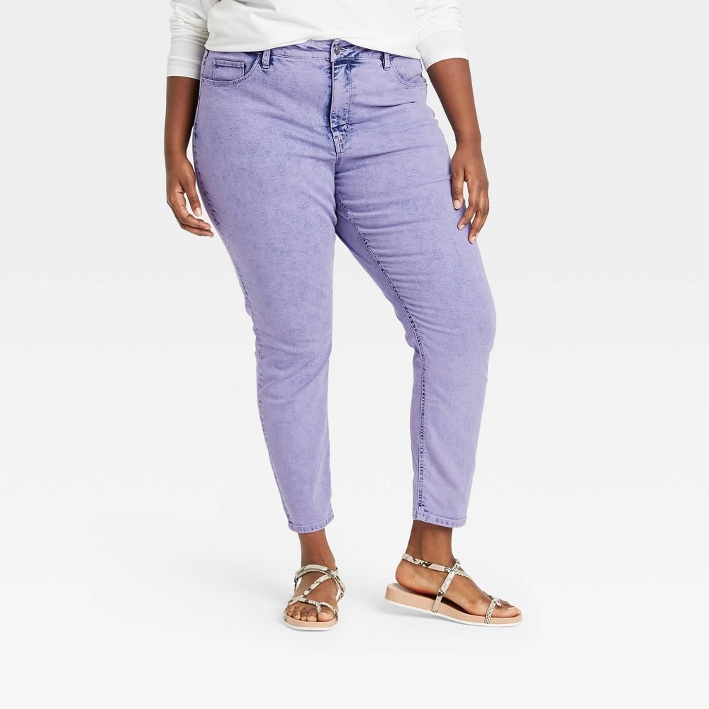 Women 39 S Plus Size High Rise Skinny Jeans Ava 38 Viv 8482 Violet 24w