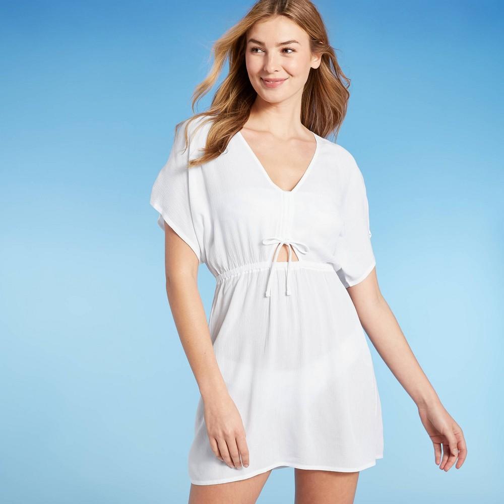 Juniors 39 Cinch Front Mini Cover Up Dress Xhilaration 8482 White M