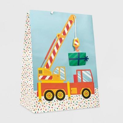 Xlarge Construction Vehicle Baby Shower Gift Bag - Spritz™