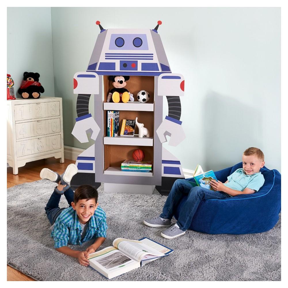 Robot Bookshelf Stand Up, Multi-Colored