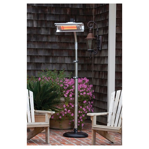 fire sense stainless steel telescoping offset pole mounted infrared patio heater target - Infrared Patio Heater