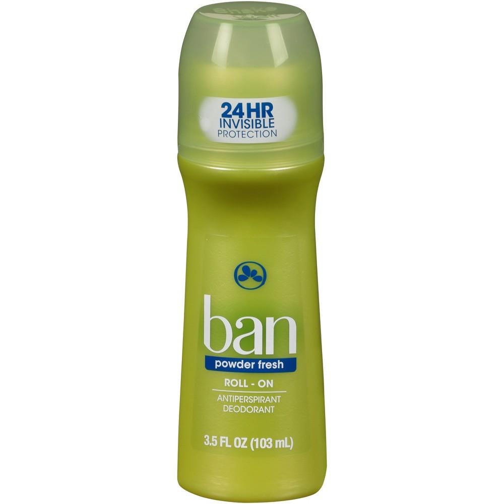 Image of Ban Roll-On Powder Fresh Antiperspirant Deodorant - 3.5oz