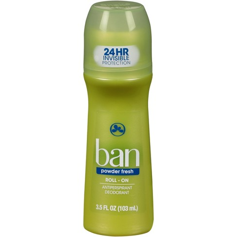 Ban Powder Fresh Roll On Deodorant 35oz Target
